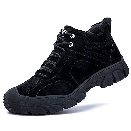 [Aoop] 安全靴 ハイカット スニーカー 作業靴 メンズ ブーツ 鋼先芯 防水 防寒 軽量 ワーキングシューズ 通気 防滑 セーフティーシューズ 耐摩耗 衝撃吸収 登山靴 832-2 27cm/44