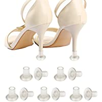 Andux Women Lady Shoes High Heel Stopper Protector for Grass Wedding Mates Bridesmaid Shoe Care Clear GGXT-05