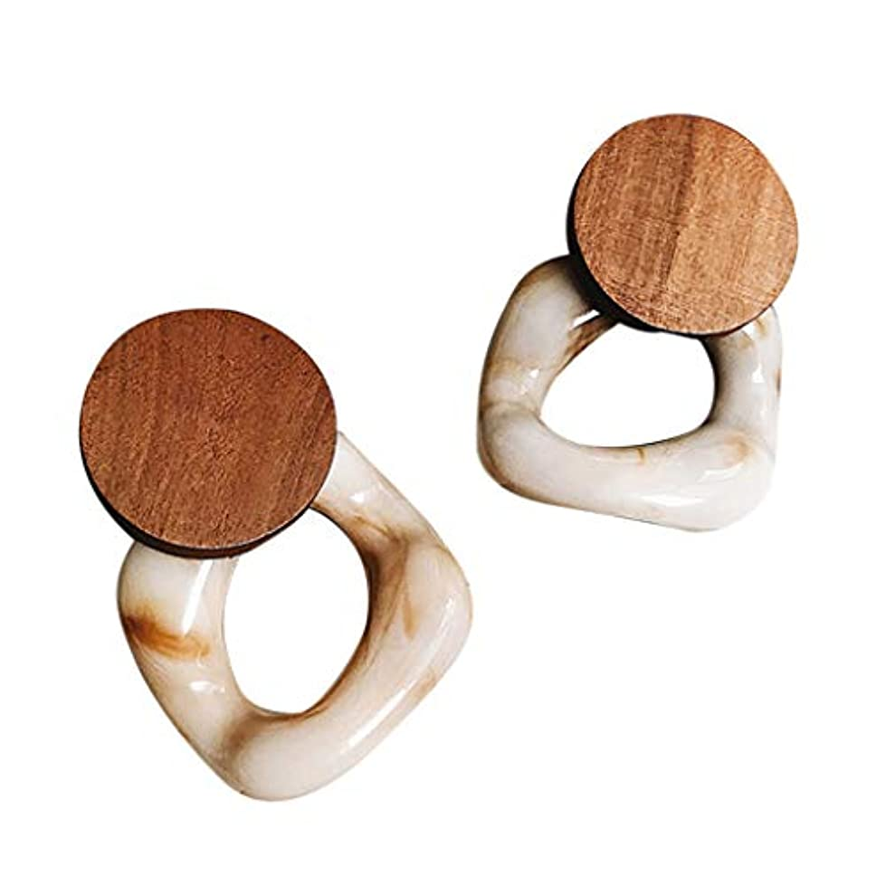 スキャン十分な殺すNicircle 女性のための新しいファッション樹脂大イヤリング木製イヤリングジュエリー レトロ 樹脂 イヤリング New Fashion Resin Large Earrings For Women Wooden Earrings...