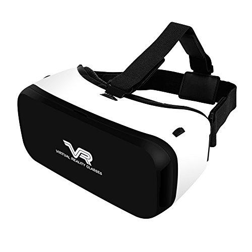 VersionTech【改良版】3D VRメガネ VRヘッドセット 超3D映像効果 ヘッドバンド付き ピント調整&視野調整可能 ゲーム/映画/ビデオ ゴーグル 4.0-5.5インチのiPhone/Androidスマートフォンに適用