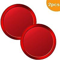 cotie 2枚セット ホームボタンシール iPhone指紋認証 指紋認証機能対応 ボタン保護シール 取付簡単(レッド&ブラック&白底プノンペン3色)