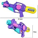 夏のビーチ水のおもちゃ子供水鉄砲のおもちゃ大容量プル水鉄砲のおもちゃ素晴らしい夏のおもちゃ楽しいのために屋外 ( Color : Purple , Size : L )