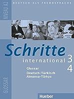 Schritte International: Glossar 3 & 4 Deutsch - Turkisch
