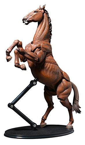 タケヤ式自在置物 馬 着彩 約180mm PVC&ABS製 塗装済み可動フィギュア KT-008
