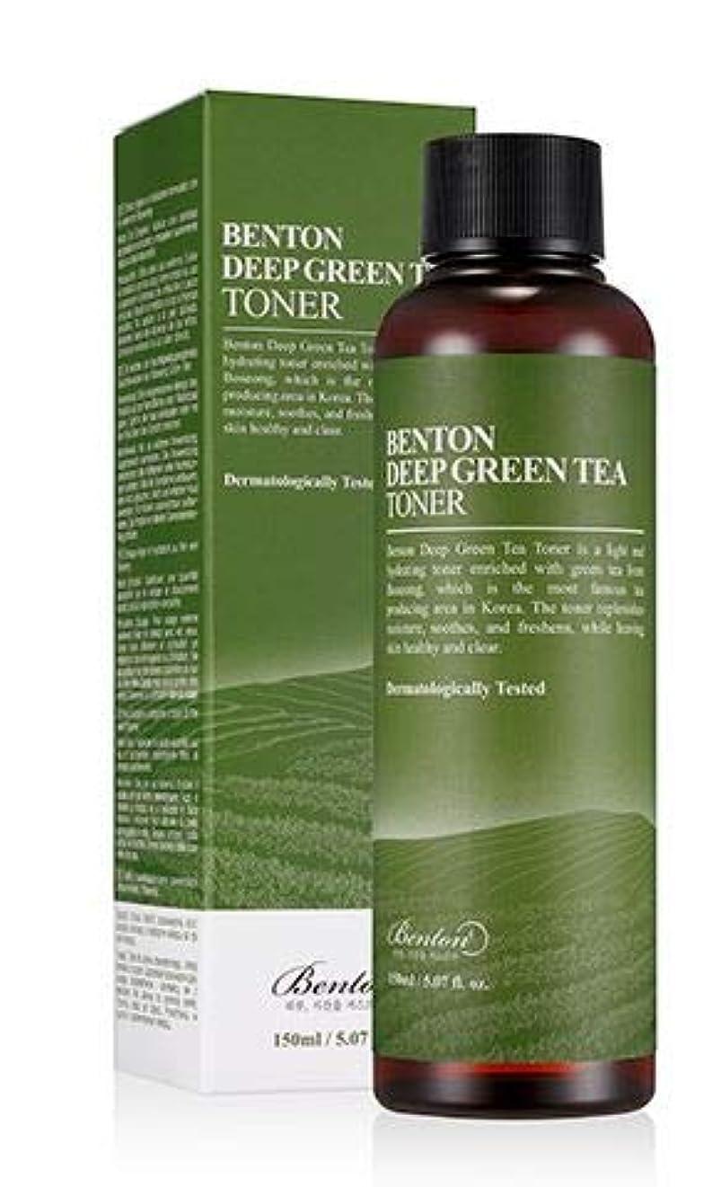 海峡ひも冗長願望[Benton] DEEP GREEN TEA TONER 150ml / [ベントン] ディップ グリーンティー トナー150ml [並行輸入品]