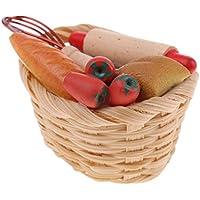 MagiDealドールハウスミニチュアブレッドバスケットBakery Shopキッチン食品装飾1 / 12