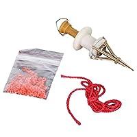 LIOOBO 赤いワーム餌クリップ顆粒血虫ミミズクリップ釣り道具ツール餌クリップセット(ランダム粒子色)