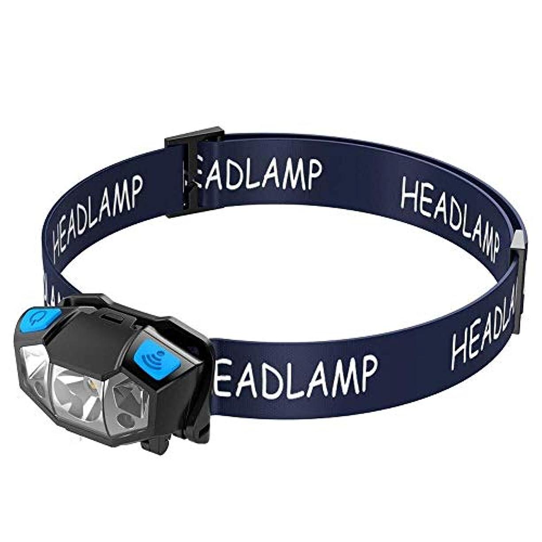 合法甘美なアクセシブル屋外のヘッドライトのヘッドライト及び赤色光及び温度感知スイッチを直接読み取りキャンプ歩行ハイキングを実行するためのUSBケーブルを使用して充電することができます ヘッドライト