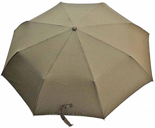 メンズ テフロン加工 シンプル 耐風折傘 58cm 折りたたみ傘 (グレー)