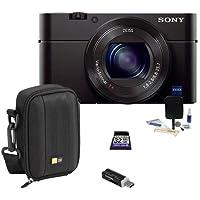 Sony Cyber - shot DSC - rx100IIIデジタルカメラ, 20.1MP–Bundle with Case , 32GBクラス10SDHCカード、クリーニングキット、USBカードリーダー