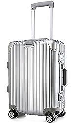 クロース(Kroeus)スーツケース TSAロック搭載 キャリーケース 機内持込可 ベルトフック付き 旅行 軽量 8輪 鏡面仕上げ