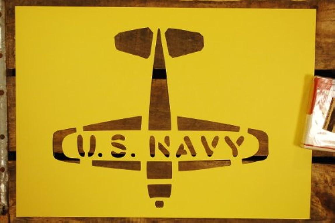 介入する対応シェトランド諸島【紙製 ステンシル シート 大】 U.S.NAVY USネイビー アメリカ海軍