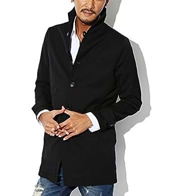BITTER スプリングコート メンズ コート【撥水加工イタリアンカラースプリングコート】 ブラックM