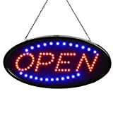 SYNC PSE基準適合品!! 電飾 サインボード LED 販促用看板 OPEN LEDパネル 看板 オープン 丸型 パネル