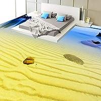 Xbwy シーサイドビーチビュー3Dステレオフローリングカスタムベッドルームロビー子供部屋固定壁紙壁画-350X250Cm