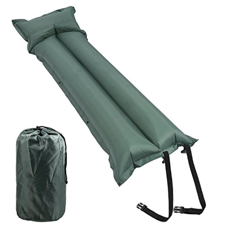 funcase防水Self Inflating Sleeping Pad便利軽量アウトドアハイキングキャンピングマットwith Attached枕 グリーン sleeping pad-G