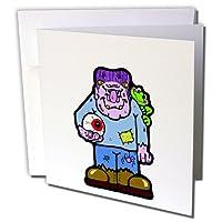 Edmond Hogge Jrハロウィン–Frankensteinハロウィン–グリーティングカード Set of 12 Greeting Cards