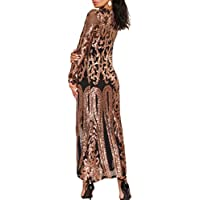 620 - Plus Size Open Front Sequin Long Sleeve Duster Evening Cardigans