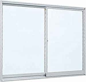 アルミサッシ YKKap 簡易サッシ 倉庫・物置・工場等 「3H-V」 引違い窓 内付型 W 786mm×H 359mm[0703] 窓 引き違い 内付け 単板ガラス シングルガラス 透明(3mm) YS:シルバー