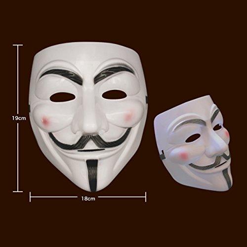 お面 マスク アノニマス ガイ・フォークス Vフォー・ヴェンデッタ 白 5個 セット 仮装 パーティ イベント