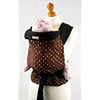 Palm and Pond Mei Tai Sling - Brown & Multi Polka Dots by Palm and Pond