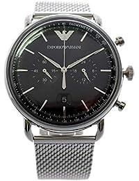 d97a13c854 [エンポリオ アルマーニ] EMPORIO ARMANI 腕時計 クロノグラフ クオーツ AR11104 ブラック シルバー メンズ ...