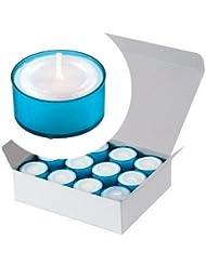 カメヤマキャンドル(kameyama candle) カラークリアカップティーライト24個入り 「 ブルー 」