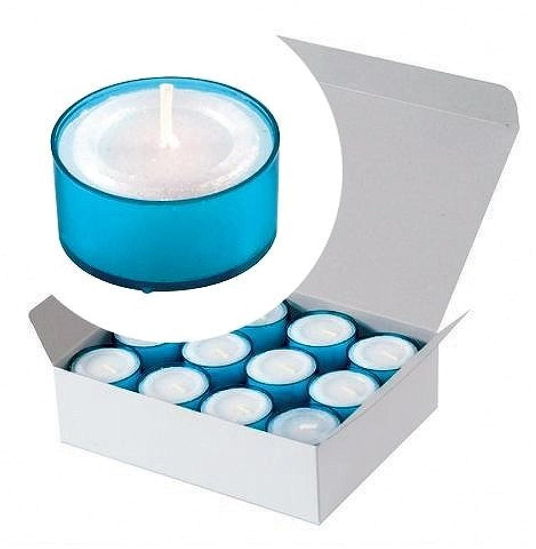 六分儀気付く地上でカメヤマキャンドル(kameyama candle) カラークリアカップティーライト24個入り 「 ブルー 」