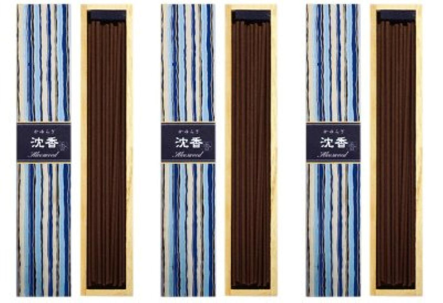 抵当世界の窓若さ日本香堂 かゆらぎ 沈香 スティック40本入 3箱セット