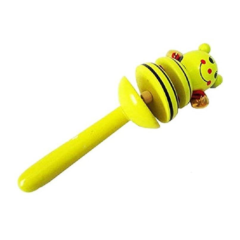 れる受粉する準備したBeautyrain 赤ん坊の好意 木製の漫画のメタルベル 楽器おもちゃP エキササイズVivid Color Baby Toddler 楽しい音楽玩具を学ぶ (漫画の鐘はランダム)