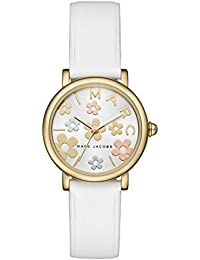 MARC JACOBS マークジェイコブス 腕時計 レディース MJ1607 Classic 28 ホワイト×ゴールド お花 フラワー [並行輸入品]