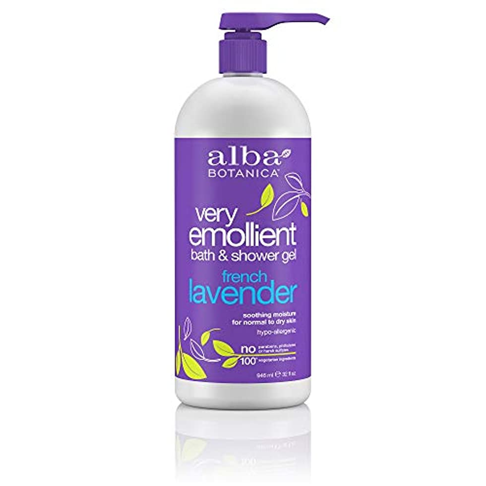 旅客スリップ残忍なAlba Botanica, Very Emollient, Bath & Shower Gel, French Lavender, 32 fl oz (950 ml)