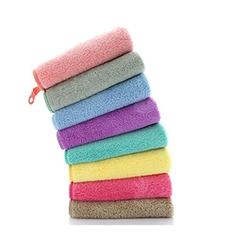 友だちによると割り当てます(非ブランド品)メイク落としタオル 超細繊維 ソフト 吸水 可愛い6色セット