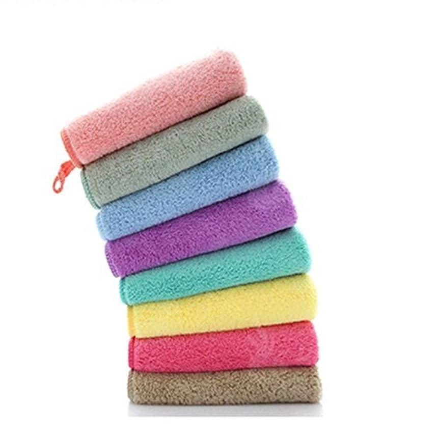 (非ブランド品)メイク落としタオル 超細繊維 ソフト 吸水 可愛い6色セット