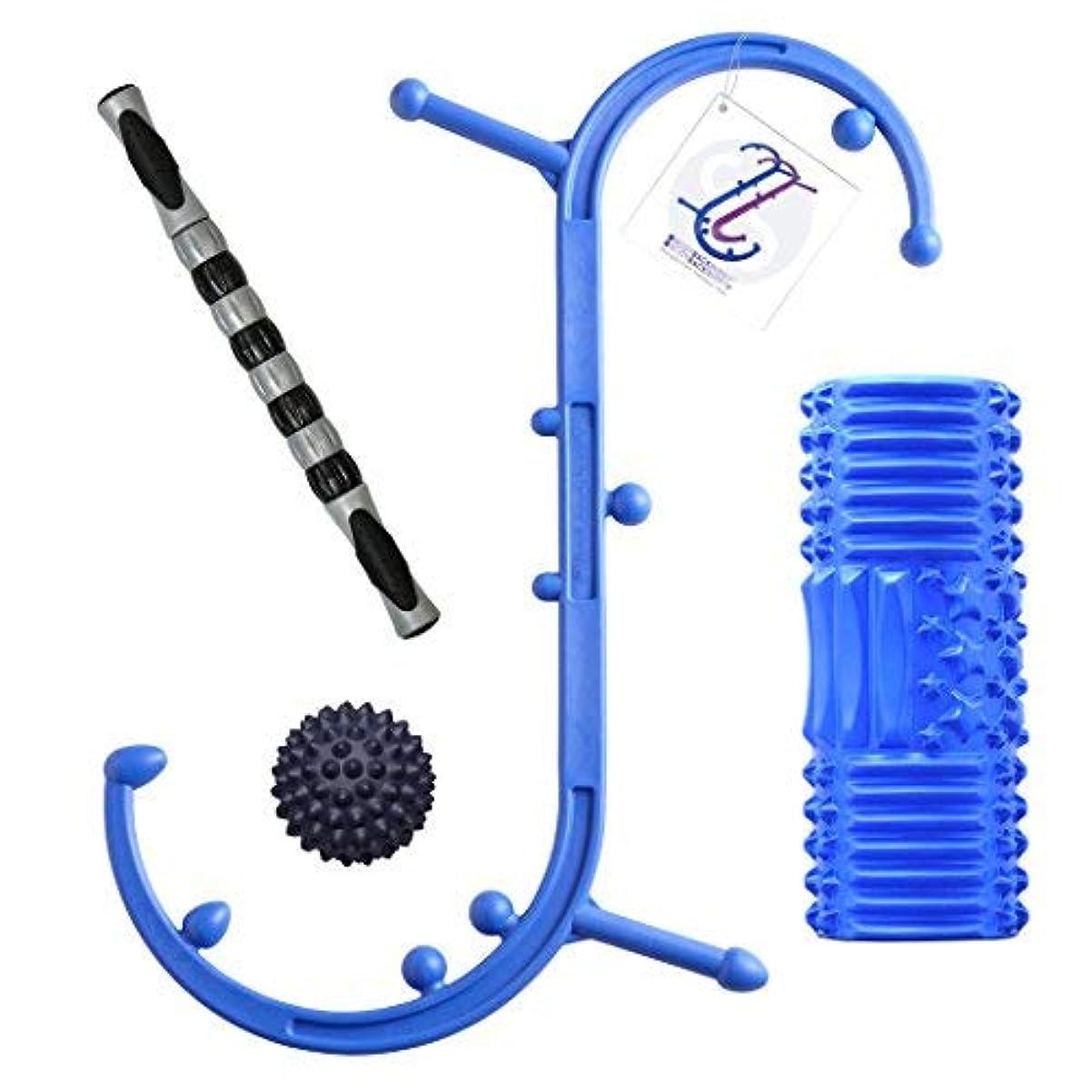 取り組む貧困絶縁するBody Back Company's Body Back Buddy Pro Sport Trigger Point Self-Massage Tool, 2Roll Foam Massage Roller, RhinoPro...