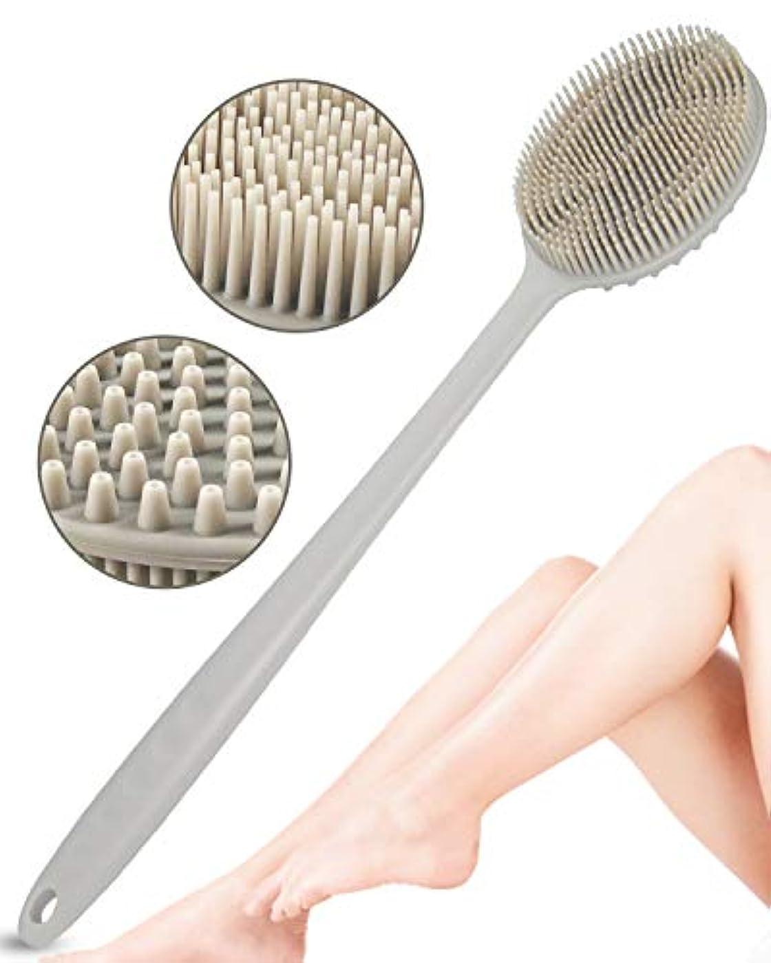 SUYADA ボディブラシ 背中 ブラシ 背中ブラシ 背中洗い シャワーブラシ お風呂ブラシ シリコン製 お風呂 角質除去