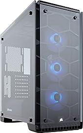 Corsair Crystal 570X RGB ミドルタワー型PCケース 4面に強化ガラスパネル採用 CS6724 CC-9011098-WW