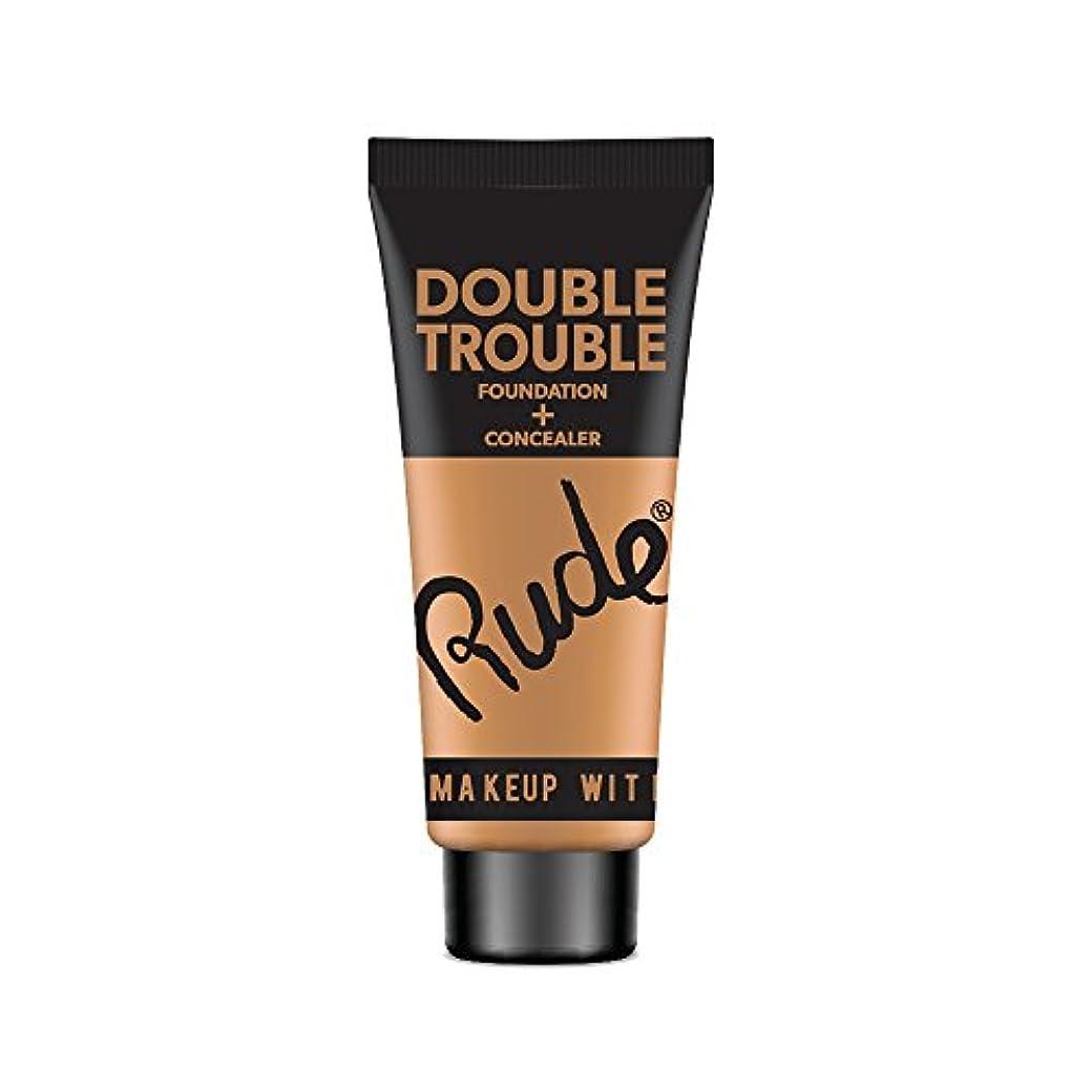 限りなく誰が修理工RUDE Double Trouble Foundation + Concealer - Natural (並行輸入品)