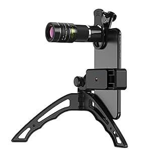 ActyGo スマホ望遠レンズ 20倍 単眼鏡 スマホ三脚 98%の iphone Android対応 月の撮影が可能 1年保証