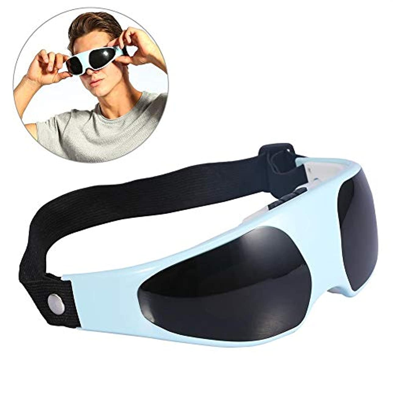 さらにレスリング裏切りアイマッサージャー、コードレス電動アイマスクマッサージ新しい便利なエレクトリックリリーフ疲労ヘルシー片頭痛マスク額アイマッサージャーヘルスケア