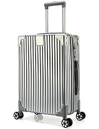 クロース(Kroeus) スーツケース ファスナータイプ 4輪ダブルキャスター 静音 大型 大容量 軽量 人気 ソフト キャリーケース 旅行 出張 TSAロック搭載 耐衝撃 ヘアライン仕上げ