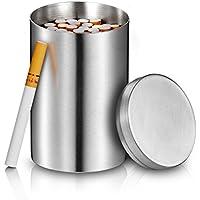 【Nice Ones】タバコケース 大容量 50本 ステンレス製 タバコ収納 タバコの元味守る 缶 煙草 車 家