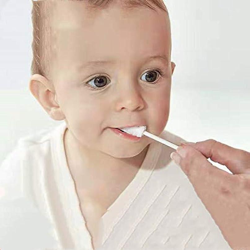 ラリー支配的地球赤ちゃんオーラルクリーナー新生児の歯柔らかい歯ブラシの赤ちゃんの赤ちゃん0-3歳の洗浄舌苔苔アーティファクト