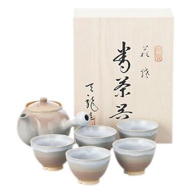 萩焼 天龍窯 茶器揃 茶コシ付 木箱入 2-38 2-38