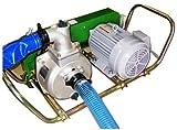 ミナトワークス ベルト掛けポンプセット (1.5インチ/3相200V/3馬力全閉モーター/サクションホース4m付)