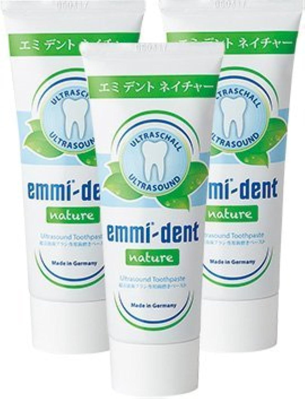 窓を洗うマットユニークなエミデント 超音波歯ブラシ専用歯磨きペースト リフィル 75g × 3本