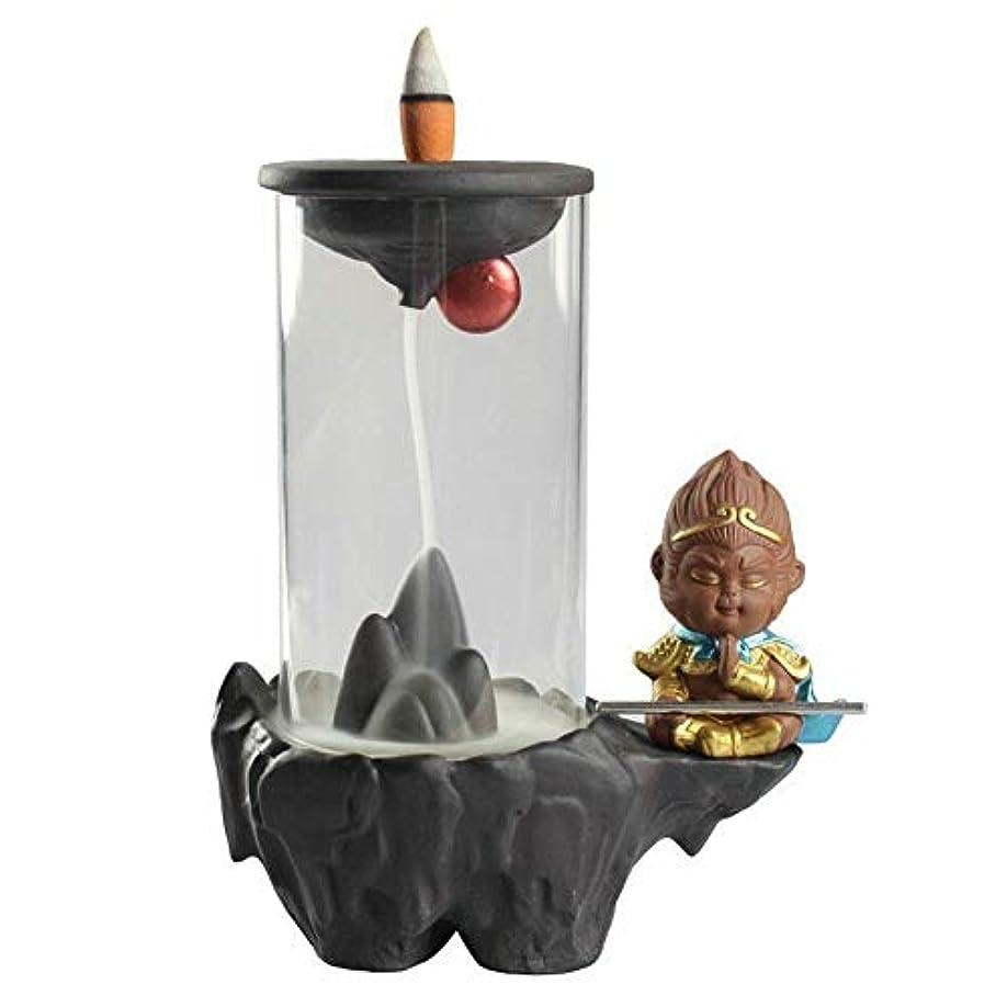 カップショートボイコットProfeel モンキーキング逆流香ホルダーフロントガラスカバー滝リフローホームオフィス用装飾