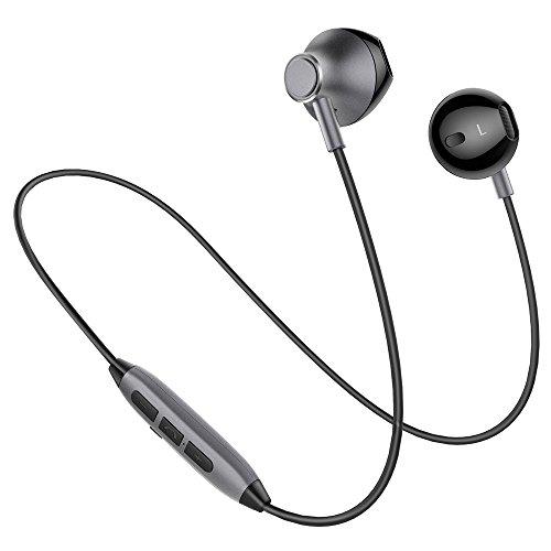 Picun H2 Bluetooth イヤホン 高音質 スマホ二台接続支持 IPX4防水防汗 ノイズキャンセリング マグネット搭載 イヤフォン リモコン マイク付き ブルートゥース イヤホン Bluetooth4.1 ワイヤレス イヤホン iPhone Android対応 (ブラック)