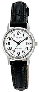 [シチズン キューアンドキュー]CITIZEN Q&Q 腕時計 Falcon ファルコン アナログ 革ベルト 日付 表示 ホワイト D019-304 レディース