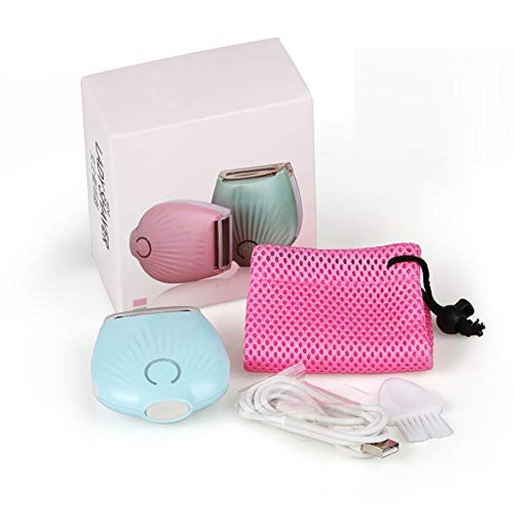 アセンブリ保証金体系的に女性のための電気かみそり、足のための痛みのないビキニトリマーボディ毛の除去剤濡れて乾いたコードレス充電式防水,Blue